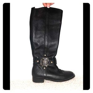 Tory Burch black leather boots SZ 8